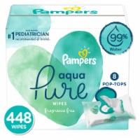 Pampers Aqua Pure Sensitive Baby Wipes - 8 pk / 56 ct