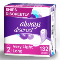 Always Discreet  Bladder Leaks Very Light Absorbency Long Incontinence Liners