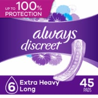 Always Discreet Size 6 Extra Heavy Absorbency Long Length Pads