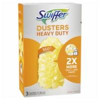 Swiffer  Dusters  Fiber  Heavy Duty Duster Refill  3 pk - Case Of: 1; Each Pack Qty: 3; Total