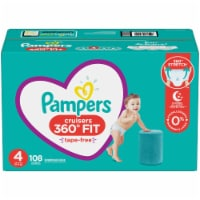 Pampers Cruisers 360 Fit Size 4 Baby Diapers 108 Count