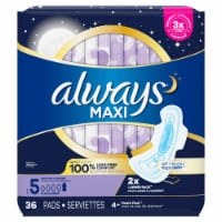 Always Maxi Size 5 Extra Heavy Overnight Pads with Flexi-Wings