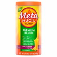 Metamucil Premium Blend Orange Flavor Psyllium Fiber Powder Supplement