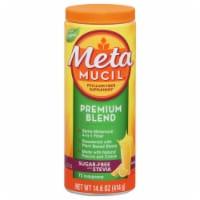 Metamucil Premium Blend Orange Flavor Psyllium Fiber Powder Supplement