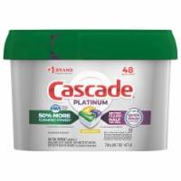 Cascade Platinum Lemon Scent Dishwasher Detergent ActionPacs