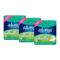 Always Ultra Thin Size 2 Long Super Flexi-Wing Pads