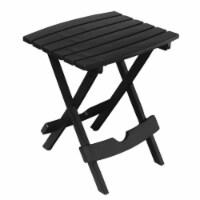 Adams  Quik Fold  Rectangular  Black  Polypropylene  Folding  Side Table