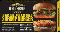 Good Neighbor Seafood Co Bacon Cheddar Shrimp Burger