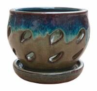 Trendspot 5 in. Dia. Ceramic Planter Multicolored - Case Of: 6; - Case of: 6