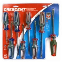 Crescent CGPS8PCSET 8 Pc. Phillips®/Slotted Co-Molded Diamond Tip Screwdriver Set - 1 set each