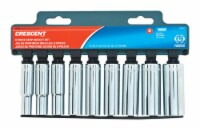 Crescent  Assorted Sizes  x 3/8 in. drive  Metric  6 Point Deep  Deep Well Socket Set  9 pc. - Count of: 1