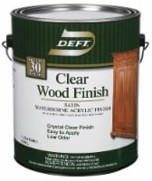 Deft  Satin  Clear  Water-Based  Finish and Sealer  1 gallon gal. - Case Of: 4; - Case of: 4