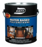 Deft  Water Based Polyurethane  Satin  Clear  Waterborne Wood Finish  1 gal. - Case Of: 4; - Case of: 4