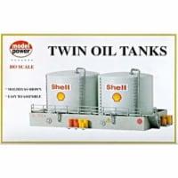Model Power MDP308 HO Scale Twin Oil Tanks Building Kit - 1