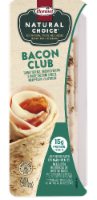 Hormel Natural Choice Bacon Club with Turkey & White Cheddar Cheese Wrapped in Flatbread