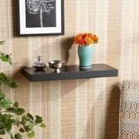 Enthralling Styled Chicago Floating Shelf Black by Southern Enterprises - 1 unit