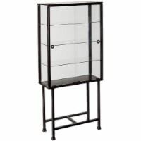 Metal/Glass Sliding-Door Display Cabinet