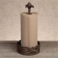GG Collection 90782 Paper Towel Holder in Acanthus Leaf Cast Metal