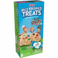 Kellogg's Rice Krispies Treats Marshmallow Squares Bars with M&M'S Minis