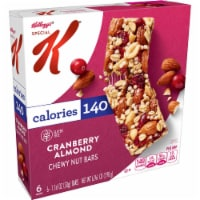 Kellogg's Special K Chewy Nut Bars Gluten Free Cranberry Almond