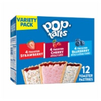 Pop-Tarts Frosted Strawberry Cherry & Blueberry Toaster Pastries Variety Pack