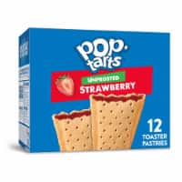Pop-Tarts Unfrosted Strawberry Toaster Pastries 12 Count