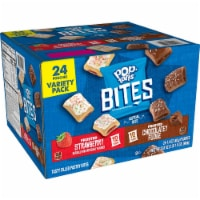 Pop Tarts Bites Variety Pack - Chocolatey Fudge, Strawberry - 24 / Carton