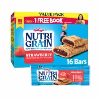 Kellogg's Nutri-Grain Soft Baked Breakfast Bars Strawberry Value Pack 16 Count