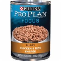 Purina Pro Plan Focus Chicken & Rice Wet Puppy Food, 13 Oz. 381702 - 13 Oz.