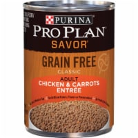 Purina Pro Plan Savor Chicken & Carrot Adult Grain Free Wet Dog Food, 13 Oz. - 13 Oz.