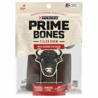 Purina Prime Bones Medium Bison Flavor Filled Chew Dog Treats - 11.3 oz