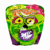 Spooky Lip Pops Fruit Flavored Lollipops
