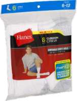 Hanes Men's Cushion Crew Socks - 6 pk - White