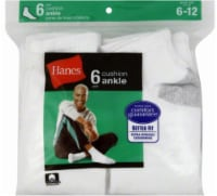 Hanes Men's Cushion Ankle Socks - 6 pk - White