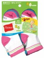 Hanes Medium Girls Ankle Socks