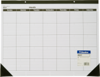 Brownline Blueline Perpetual Monthly Planner - 23 x 17 Inch