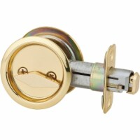 National Privacy Polished Brass Pocket Door Lock Pull N350371 - 1