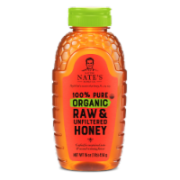 Nature Nate's 100% Pure Organic Raw & Unfiltered Honey
