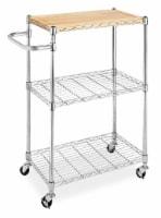 Whitmor Supreme Kitchen Cart - Chrome