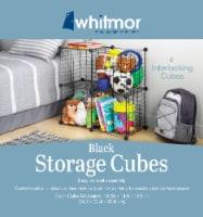 Whitmor 4 Interlocking Storage Cubes - Black - 1 ct