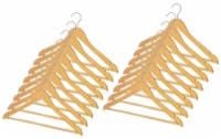 Whitmor Natural Wood Suit Hangers