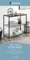 Whitmor Modern Industrial 3-Tier Portable Storage Shelf - Natural/Black - 1 ct