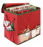 Whitmor Christmas Gift Bag Organizer - Red/Green