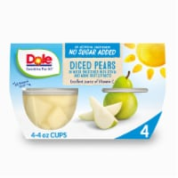 Dole No Sugar Added Diced Pear Cups