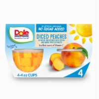 Dole No Sugar Added Yellow Cling Diced Peach Cups