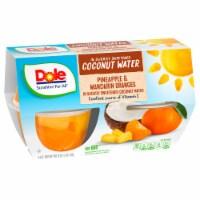 Dole Pineapple & Mandarin Orange in Lightly Sweetened Coconut Water Fruit Cups