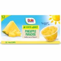 Dole Pineapple Paradise in 100% Juice Fruit Tidbits - 12 ct / 4 oz
