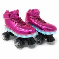 Chicago Skates CRS710-04 Girls Sidewalk Light-Up Skate, Pink - Size 4 - 1
