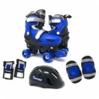 Chicago Skates CRS138B-S Adjustable Quad Roller Small Junior Skate Combo Set, Black & Blue - - 1