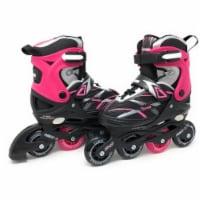 Chicago Skates CRSMA7G-MD Black & Pink Medium Girls Adjustable Inline Skates - Size J13-4 - 1